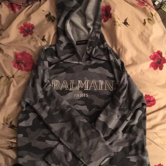 eb62b23e Balmain Jackets & Coats | Large Camo Hoodie | Poshmark